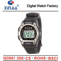 2014 cheap high quality plastic digital multifunctional watch for men