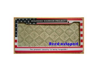 plastic license plate frame w/ embossed letter for nigeria or US