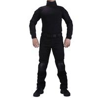 Black Colors BDU Suit Wargame Paintball Tactical Police SWAT Uniform
