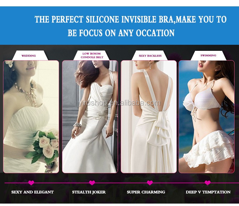 Factory Direct Supply Best Design Good Shape Silicone Invisible Bra for Women Girls