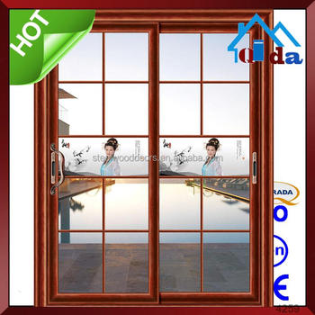 Cheap Price High Quality Aluminum Sliding Glass Door With Grills Design In Bedroom