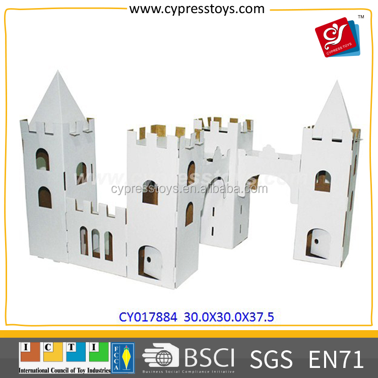 DIY 3D Educational Paper Playhouse Kit Toys For Children