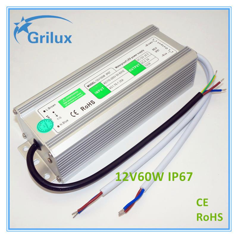 High Quality 1 watt led driver low power led driver led driver 50w made in China 12V60W IP67