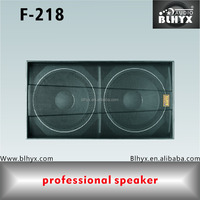 "dual 18"" pro audio pa subwoofer speaker/pro high power 1200watts big bass woofer/professional dual 18-in woofer speaker box"