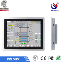 15 inch windows7/8/10 intel j1900 fanless resistive touch screen industrial panel pc waterproof with ssd vga