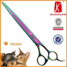 PK04RW SUS440C Professional Rainbow titanium Coating Pet Scissor