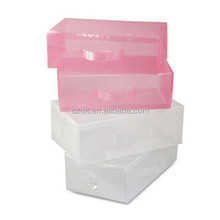 Colored cheap acrylic shoe box with handle