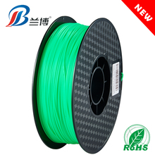 2018 NEW product PLA ABS Fluorescent green 1.75 1KG/ROLL 3d pla filament for 3d printer