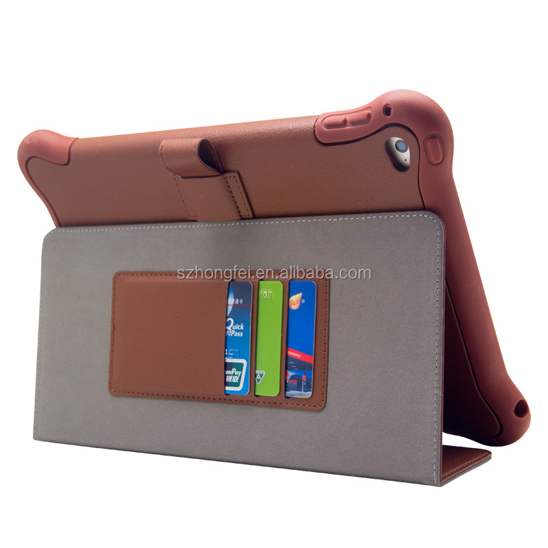 flip cover case for iPad, wallet leather cover flip case for ipad case