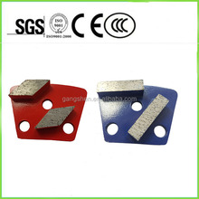 Grit 20# trapezoid pads high quality diamond brand hand grinder tools for concrete