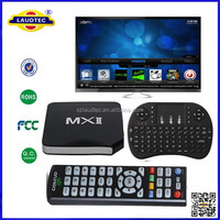 MX 2 II Smart TV Box Amlogic S805 Android 4.4 Systerm Quad Core TV Box with Air Mouse Keyboard Combo Laudtec