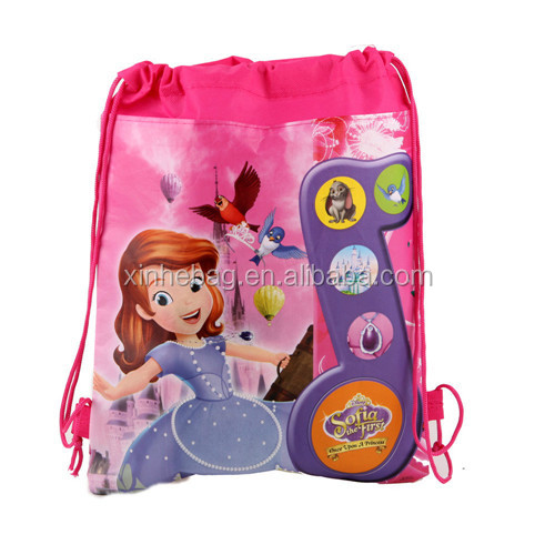 210d Polyester drawstring shopping bag