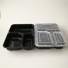 Stackable Plastic Microwavable Dishwasher Safe Reusable Meal Containers