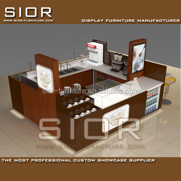 Retail Store Counters Ice Cream Shop Interior Design Mobile Coffee Kiosk Furniture And Fast Food Kiosk For Sale