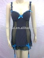 sexy lingerie/women's hot pajama/mesh fabric babydoll