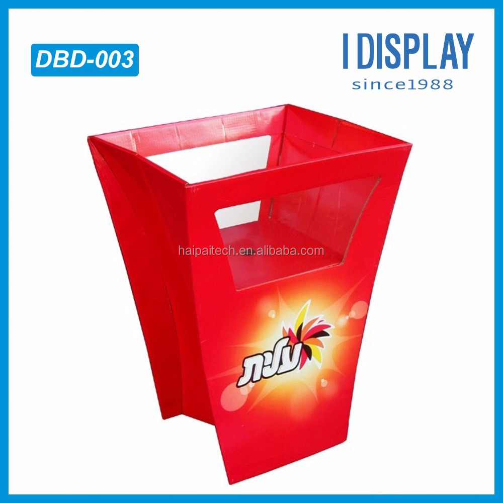 supermarket promotion Customized corrugated cardboard dump bin displays stand