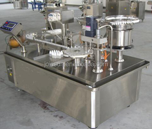 CE Approved Automatic Small Bottles Filling Capping and Labeling Machine