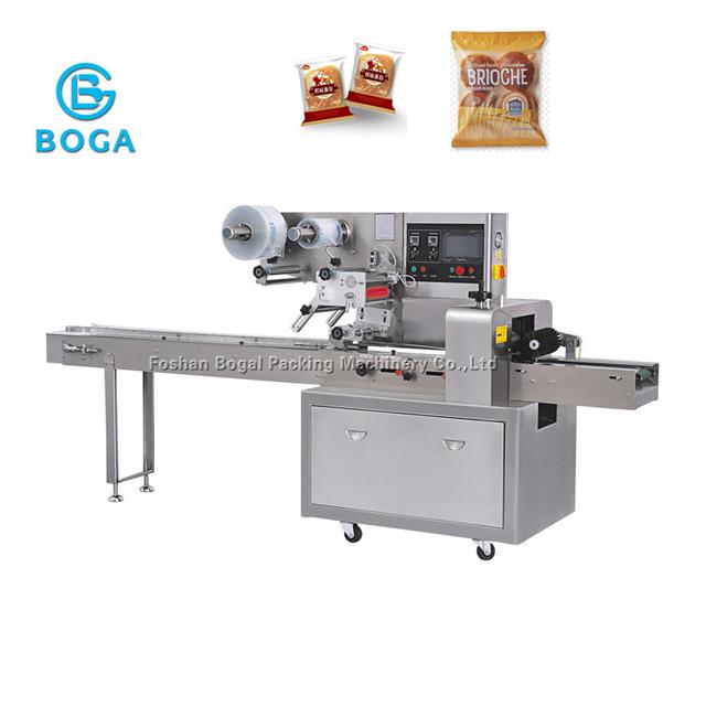 Low cost sweet Rolls horizontal packing machine