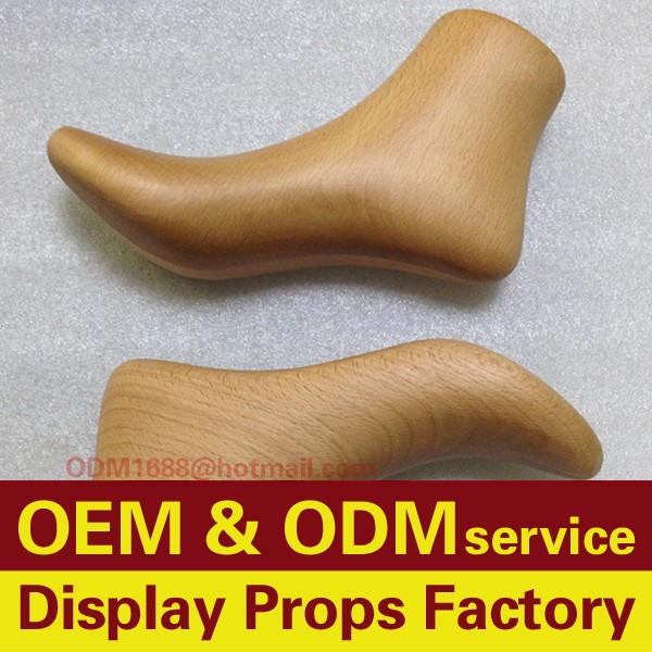 Custom wooden foot mannequin, Wooden shoe lasts for high heels display