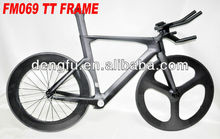 700c new full inside cable carbon frame ,TT frame FM069