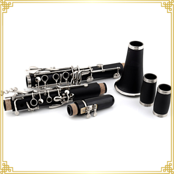 Hard Rubber Made Clarinet in Bb Tone with 17 Keys