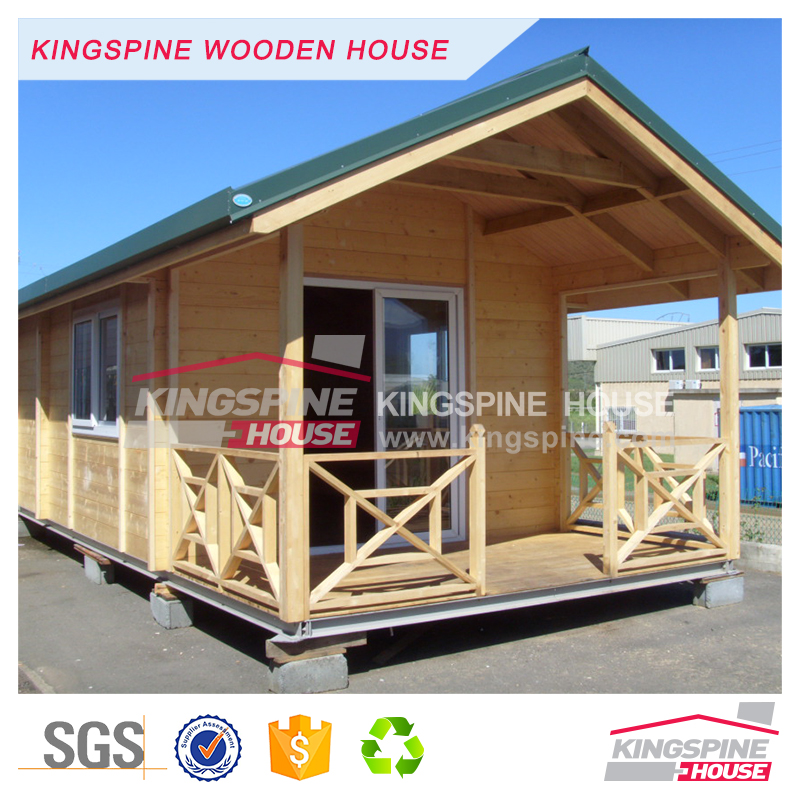 Low price small log home 1-floor simple design Prefab wooden house 26.5 m2 KPL-097
