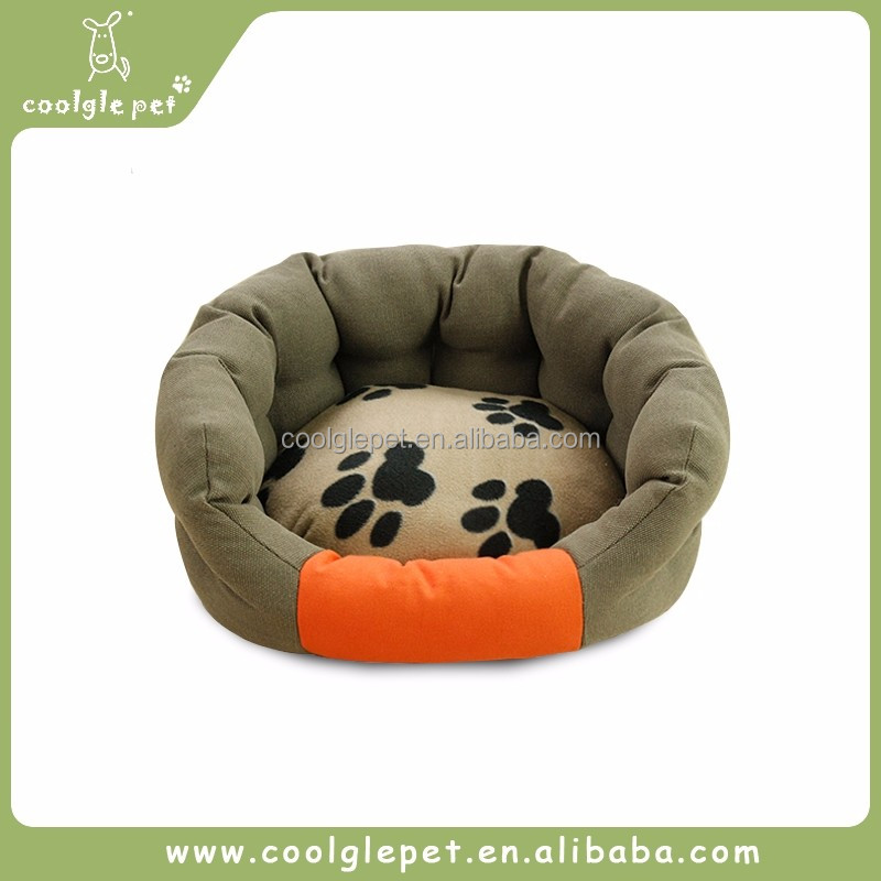 Hello Paw Printed Bedding Sets Soft Pet Bed Dog Round Sofa Bed Plush Cat House