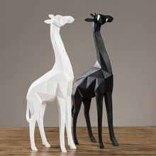 Modern Simple Geometric Resin Deer Figurine for Home Decor