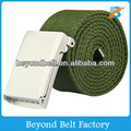 Beyond Women's Olive Solid Color Polyester Woven Canvas Belt