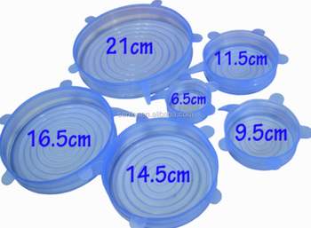 6PCS Silicone Suction Lids and Food Covers, Reusable soft smart Silicone Stretch Lids Cover Wrap