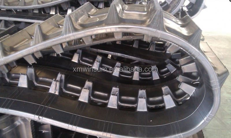 High quality warranty 1200hours excavator and bulldozer excavator rubber track pad