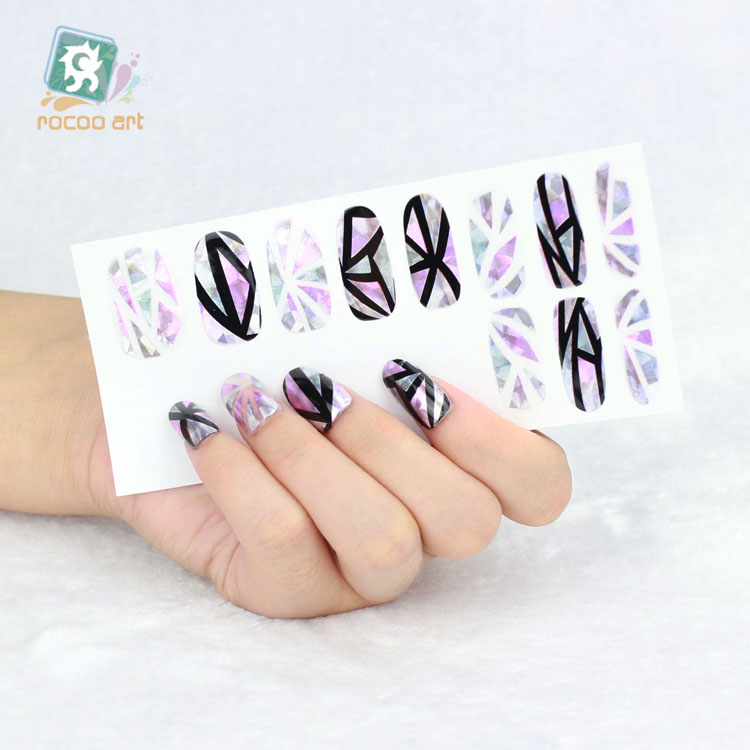 YO-611/Unique Laser Remover Nail Art Wraps Stickers Glitter Rhinestone Nail Sticker Wholesale