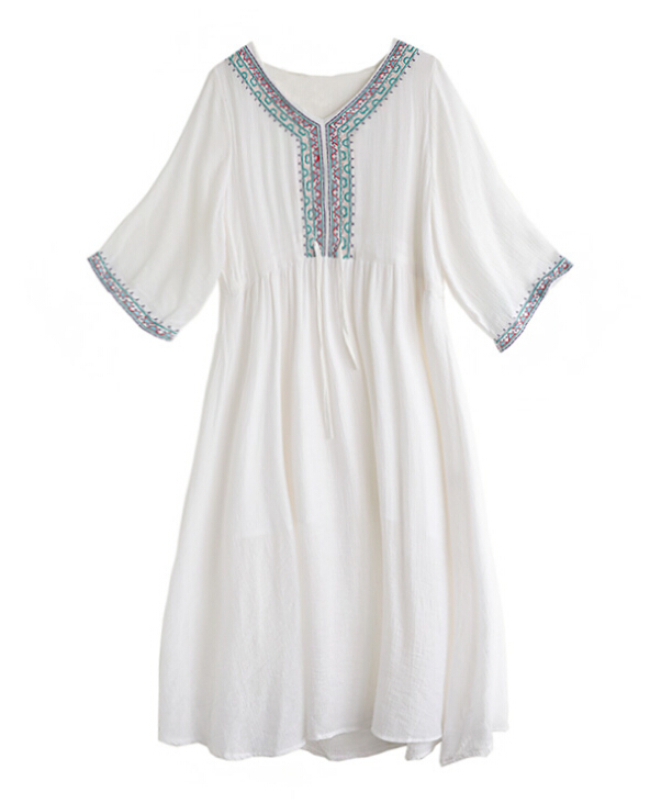 Women  cotton long sleeve loose plus size nursing clothes pregnant clothing maternity dress