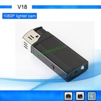 flashlight gadgets HD 1080P CCTV recorder mini dv digital wireless pinhole camea lighter dvr recorder V18