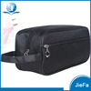 Newest high quality fashion polyster folding custom men leather toiletry bag