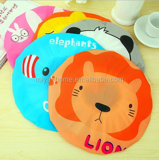 Hot sale Cute Cartoon Waterproof Shower Cap / bath cap anti-fog hat