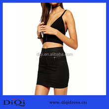 Pickling zipper denim skirts Fashion Wholesale Woman Clothe formal denim skirt casual Skirt Korean clothes Guangzhou Clothing fo