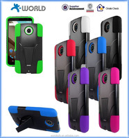 Hot sell Hybrid Hard PC+Silicone Kickstand combo case for Google Nexus 6