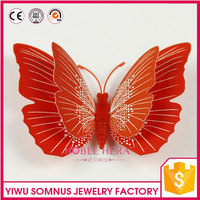 double layer red large 3D butterfly outdoor garden stickers BY005B