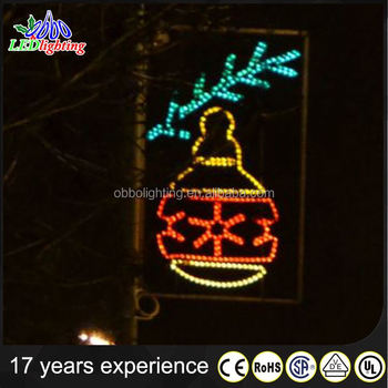 Hot sell waterproof outdoor holiday decoration led light pole street light