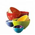 Different size and colors for optional colorful melamine mixing bowl made in China