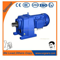 High strength compact dimension extended output bearing hub electric motor speed reducer made in China