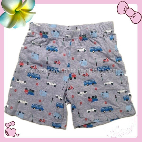 kids sleep wear casual shorts 100% cotton print shorts stock lot