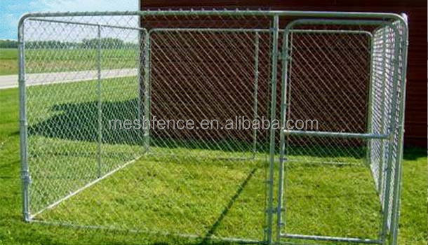 Alibaba China wholesale iron cheap 10x10x6 foot classic galvanized outdoor dog kennel
