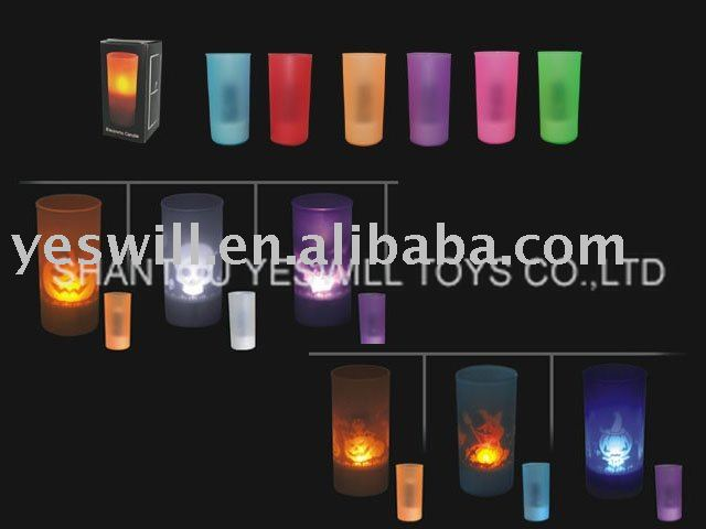 Sensorable LED Cup Candle With Projector (Halloween),Festival promotional gifts