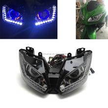 For Kawasaki Ninja300 motorcycle angel eye headlight headlamp HID lamps Modified Lamp beads LED lamp