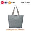 Waterproof Foldable Vintage European Style Oxford Travel Shopping Beach Casual Light Grey Handbag