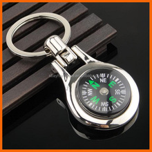Fashion silver custom engraved compass keychain