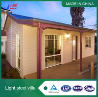 China light luxury prefabricated steel frame villa house