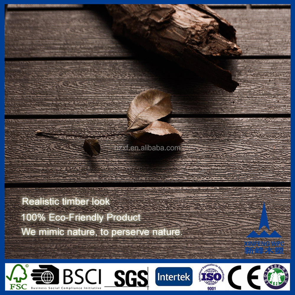 strong anti-UV wpc decking tiles /Cheap teak wood composite decking prices
